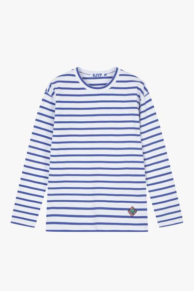 스트라이프 디노 티셔츠
