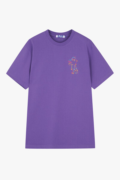 코튼 컬러 디노 스웨트셔츠