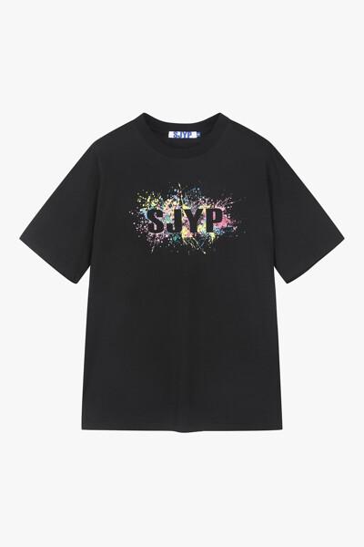 컬러 스플래쉬 로고 티셔츠