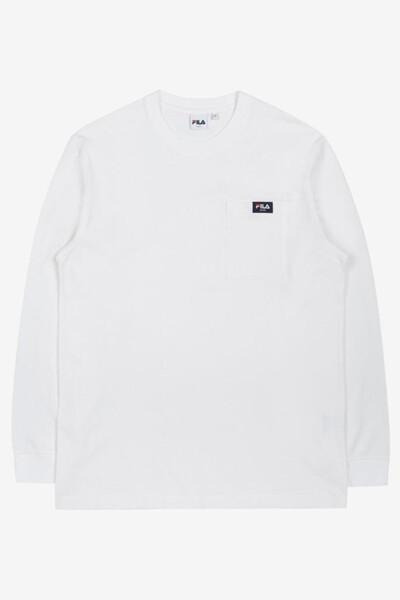 스몰로고 포켓 긴팔 티셔츠 (FE2RLC5301XOWH)
