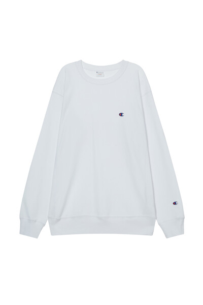 [ASIA] 리버스위브® 크루넥 스웨트셔츠 (WHITE) CKTS1E725WT