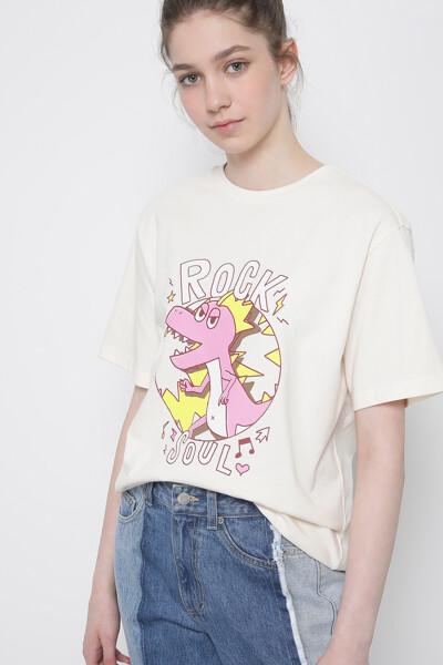락 소울 디노 티셔츠