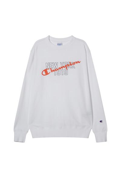 [ASIA] 크루넥 스웨트셔츠 (WHITE) CKTS1E734WT