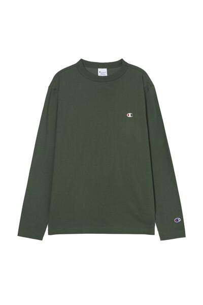 [ASIA] 롱슬리브 티셔츠 (DARK GREEN) CKTS1E526E3