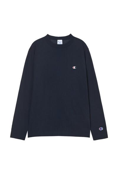 [ASIA] 롱슬리브 티셔츠 (NORMAL NAVY) CKTS1E526N2