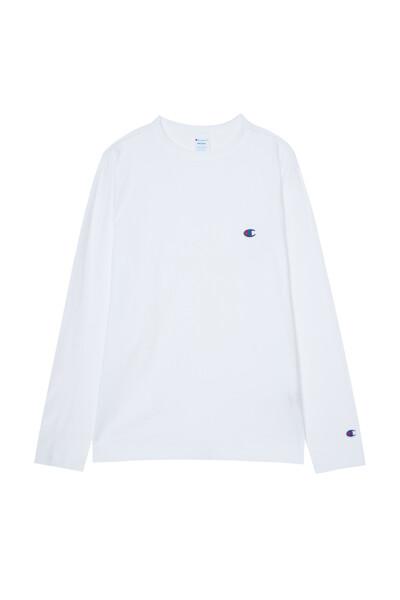 [ASIA] 롱슬리브 티셔츠 (WHITE) CKTS1E526WT