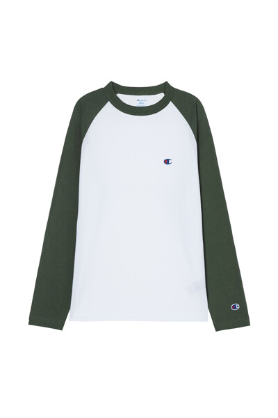 [ASIA] 롱슬리브래글런 티셔츠 (DARK GREEN) CKTS1E528E3