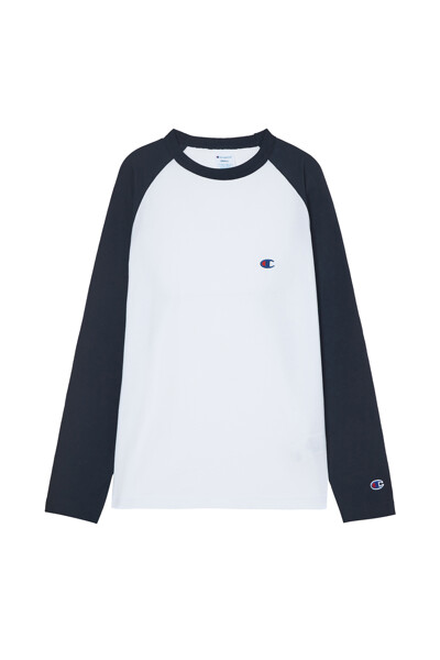 [ASIA] 롱슬리브래글런 티셔츠 (NORMAL NAVY) CKTS1E528N2