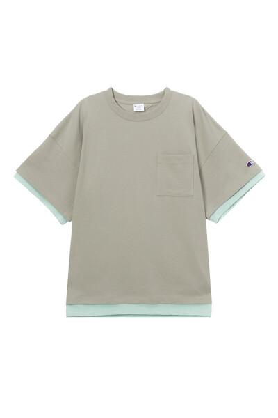 [ASIA] New York Champion 그래픽 반팔 티셔츠 (NORMAL BEIGE) CKTS1E222I2