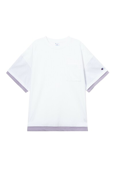[ASIA] New York Champion 그래픽 반팔 티셔츠 (WHITE) CKTS1E222WT