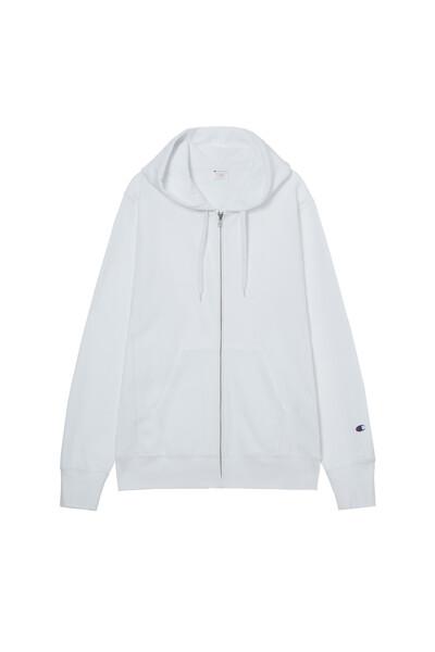 [ASIA] Reverse Weave® 집업 후디드 스웨트셔츠 (WHITE) CKTS1E738WT