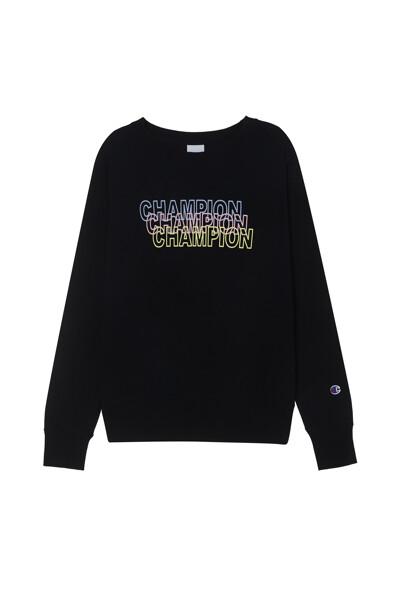 [ASIA] 크루넥 스웨트셔츠 (BLACK) CKTS1E875BK