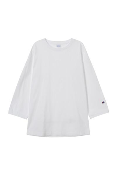 [ASIA] 롱슬리브 티셔츠 (WHITE) CKTS1E572WT