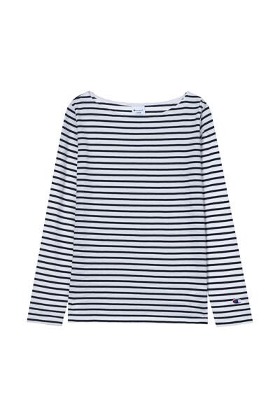 [ASIA] 롱슬리브 보더티셔츠 (WHITE) CKTS1E575WT