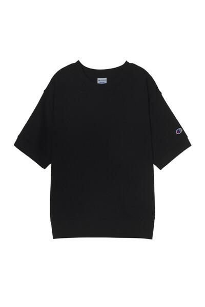 [ASIA] 쇼트슬리브 스웨트셔츠 (BLACK) CKTS1E171BK