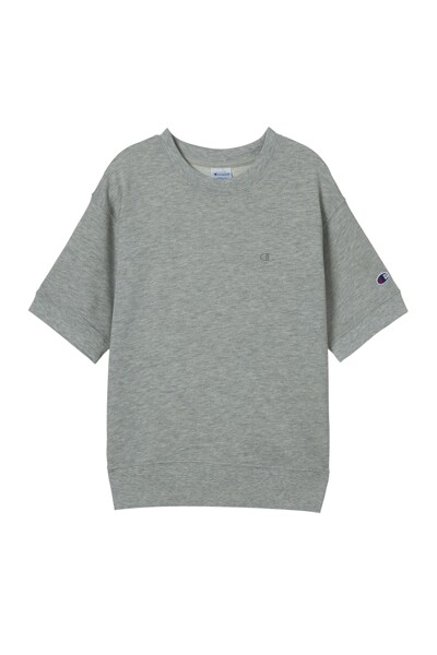 [ASIA] 쇼트슬리브 스웨트셔츠 (LIGHT GREY) CKTS1E171G1