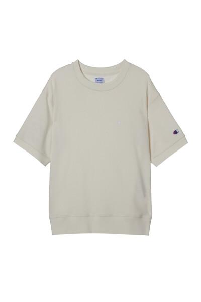 [ASIA] 쇼트슬리브 스웨트셔츠 (WHITE) CKTS1E171WT