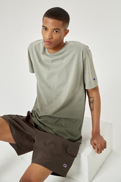 [US] 옴브레 딥 다이 반팔 티셔츠 (CHARCOAL GRAY) CKTS1E200CG