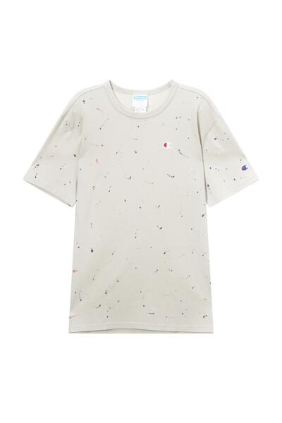 [Online Exclusive] [US] 페인트 스플래터 반팔 티셔츠 (NORMAL BEIGE) CKTS1E304I2