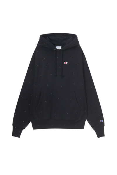 [Online Exclusive] [US] Reverse Weave® 페인트 스플래터 후드티 (BLACK) CKTS1E718BK