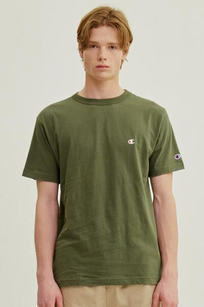 [ASIA] 쇼트슬리브 티셔츠 (DARK GREEN) CKTS1E326E3