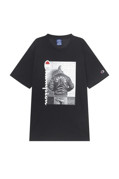 [EU] 빈티지 포토 그래픽 반팔 티셔츠 (BLACK) CKTS1E345BK