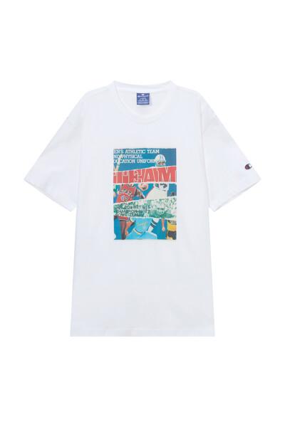 [EU] 빈티지 포토 그래픽 반팔 티셔츠 (OFF WHITE) CKTS1E345OW