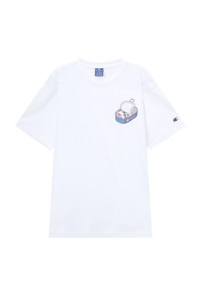 [EU] 그래픽 반팔 티셔츠 (IVORY) CKTS1E441IV