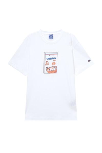 [EU] 그래픽 반팔 티셔츠 (WHITE) CKTS1E441WT