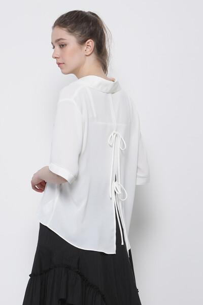백 오픈 셔츠