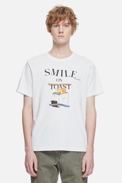 코튼 토스트 프린트 티셔츠
