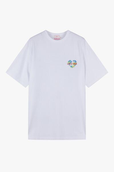 슬로건 반팔 티셔츠