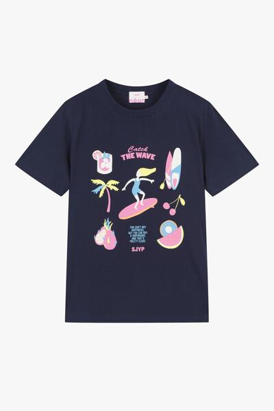 서핑 그래픽 티셔츠