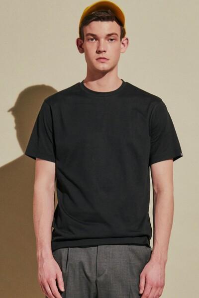 [RAUM MEN] R STANDARD 라움 블랙 프리미엄 코튼 반팔 티셔츠 (ROTS0E101BK)