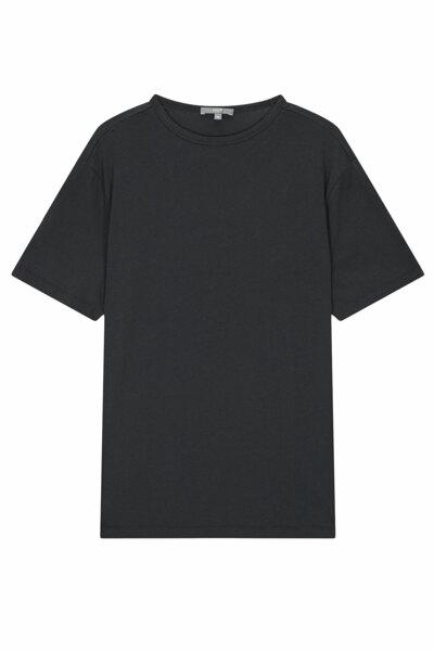 [RAUM MEN] 차콜그레이 단색 면 반팔티셔츠 (ROTS0E673CG)