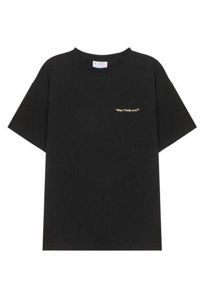 [RAUM MEN] 세리토스 콜라보 반팔 티셔츠 남녀공용 (ROTS0FCE2BK)