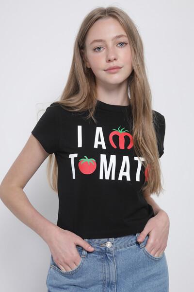 토마토 크롭 티셔츠