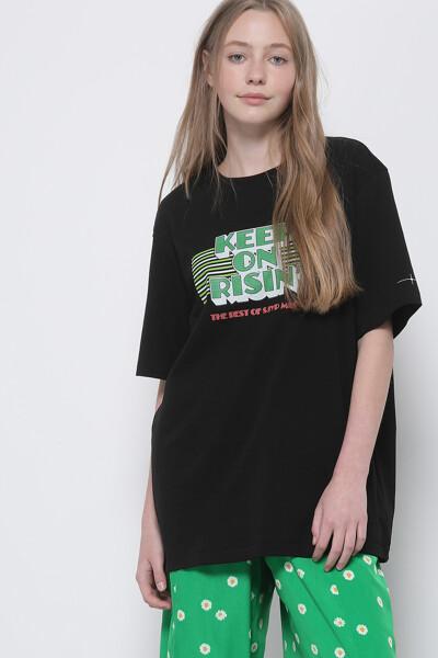 킵 온 라이징 그래픽 반팔 티셔츠