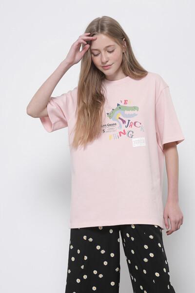 디노 그래픽 반팔 티셔츠