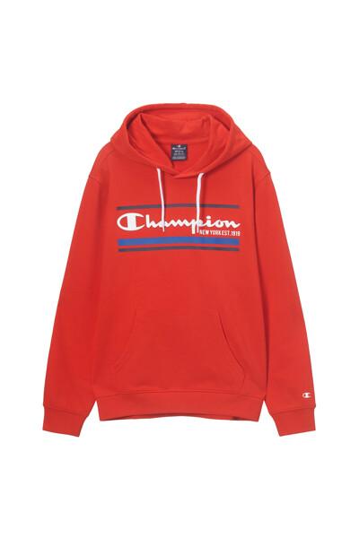 [EU] Authentic Champion 그래픽 후드 티셔츠 (NORMAL RED) CKTS1E640R2