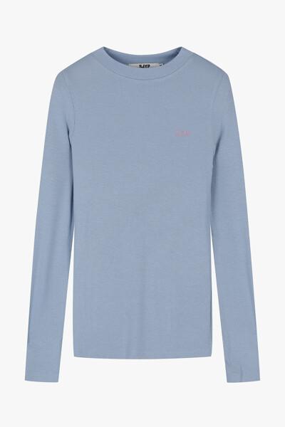 하프넥 베이직 티셔츠