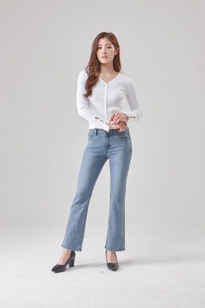 [GUESS] 여성 인디고 크롭 붓컷 OL3D0612