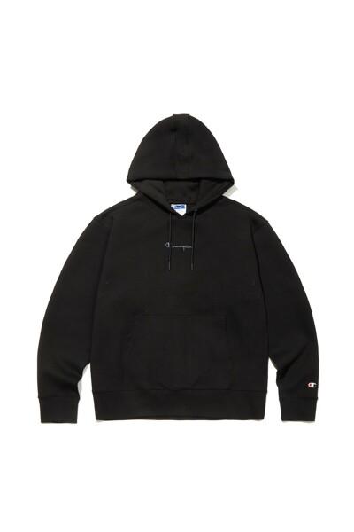 [US] Champion 로고 9.7oz Tech Weave 기모 Hoodie (BLACK) CKTS1F604BK