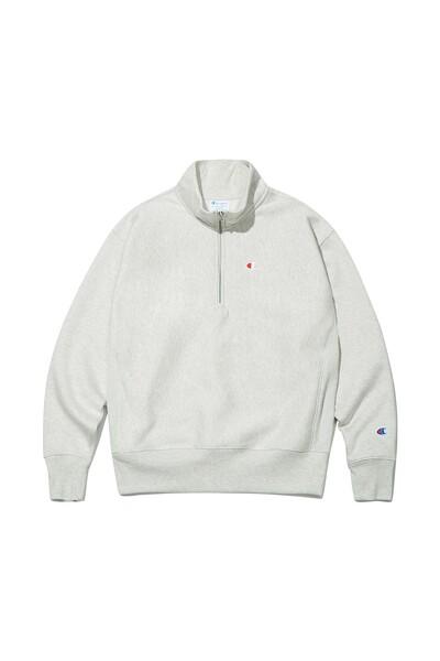 [US] C로고 12oz Reverse Weave® 1/4 Zip 기모 Pullover (CREAM) CKTS1F901CR