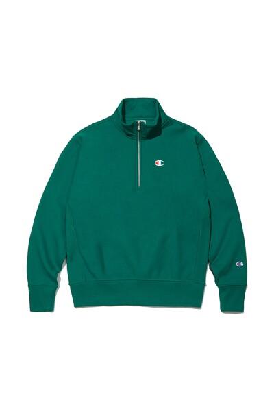 [US] C로고 12oz Reverse Weave® 1/4 Zip 기모 Pullover (NORMAL GREEN) CKTS1F901E2