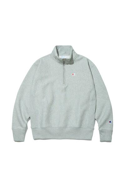 [US] C로고 12oz Reverse Weave® 1/4 Zip 기모 Pullover (LIGHT GREY) CKTS1F901G1