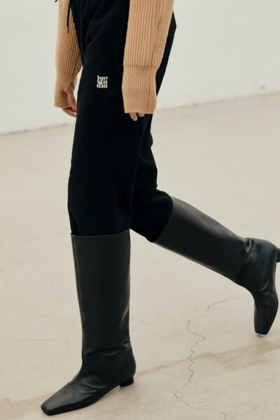 TIA Wide Shaft Boots BLACK (JYSO1D901BK)