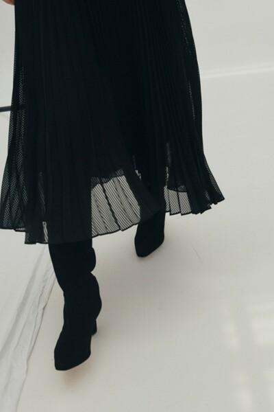 TIA Slouchy Boots BLACK (JYSO1D900BK)