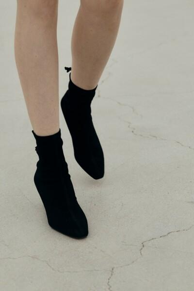 TIA Stretch Ankle Boots BLACK SUEDE (JYSO1D902BA)