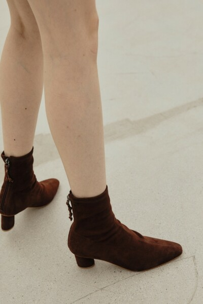 TIA Stretch Ankle Boots CHOCOLATE (JYSO1D902W3)